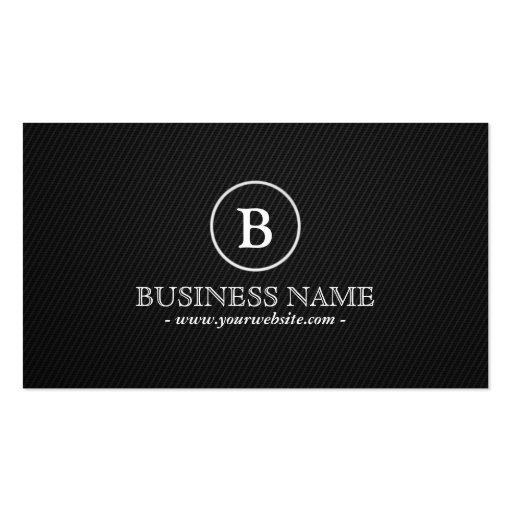 Simple Monogram Bodybuilding Business Card