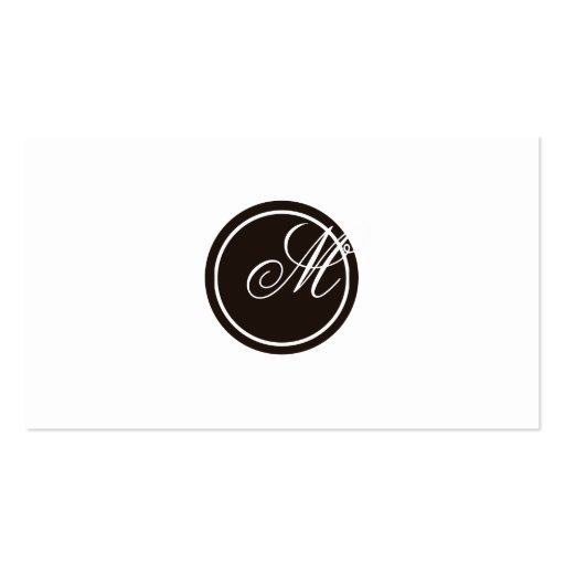 Simple Monogram Business Card Template