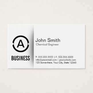 Simple Monogram Chemical Engineer Business Card