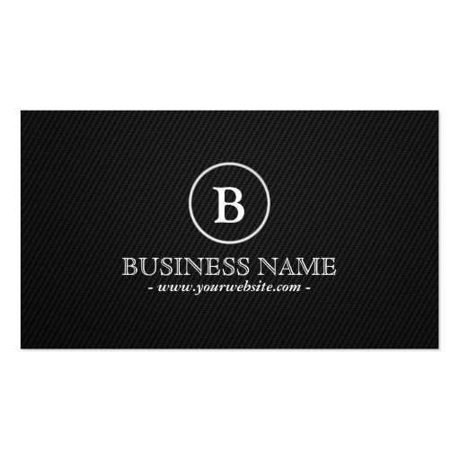 Simple Monogram Commercial Director Business Card