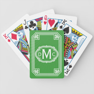 Simple Monogram Playing Cards