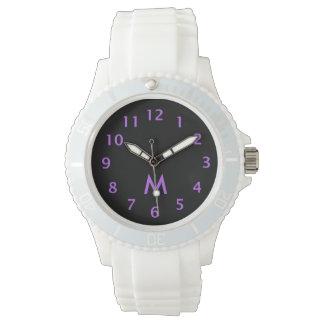 Simple Monogram Purple Watches