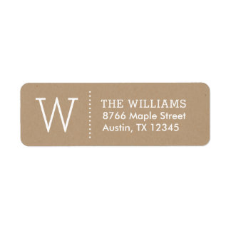 Simple Monogram Return Address Labels