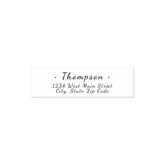 Simple Monogram Return Label Self-inking Stamp