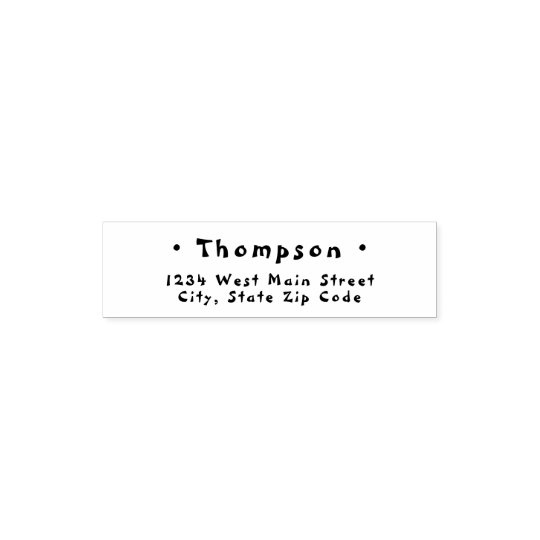 Simple Monogram Return Label Self-inking Stamp