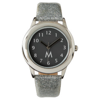 Simple Monogram Silver Wristwatch