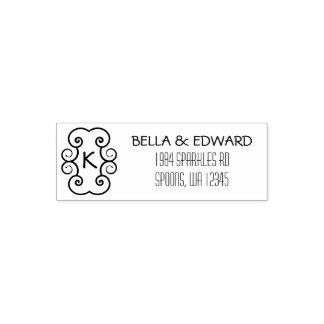 Simple Monogram | Wedding Couple Return Address Self-inking Stamp