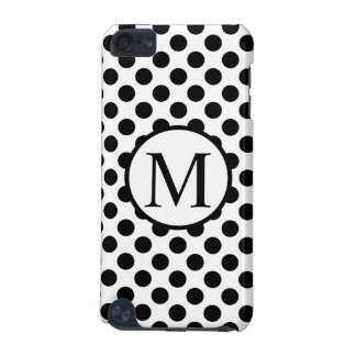 Simple Monogram with Black Polka Dots iPod Touch (5th Generation) Case