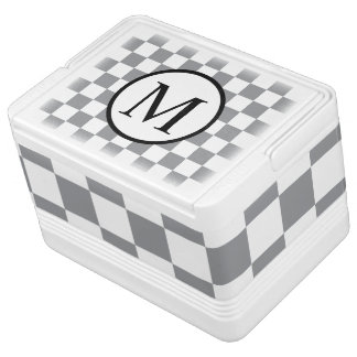 Simple Monogram with Grey Checkerboard