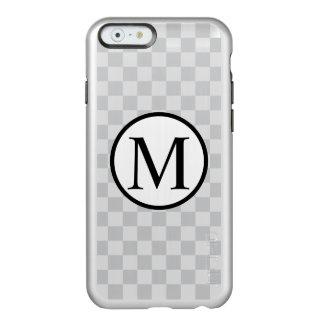 Simple Monogram with Grey Chequerboard Incipio Feather® Shine iPhone 6 Case