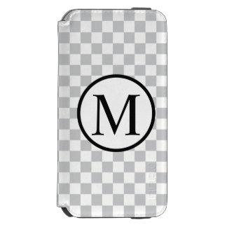 Simple Monogram with Grey Chequerboard Incipio Watson™ iPhone 6 Wallet Case