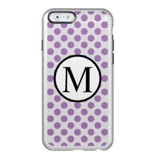 Simple Monogram with Lavender Polka Dots Incipio Feather® Shine iPhone 6 Case