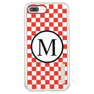 Simple Monogram with Red Checkerboard Incipio DualPro Shine iPhone 8 Plus/7 Plus Case