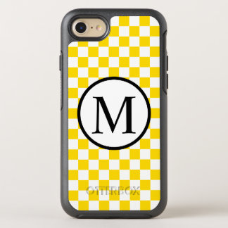 Simple Monogram with Yellow Checkerboard OtterBox Symmetry iPhone 8/7 Case
