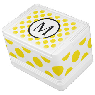Simple Monogram with Yellow Polka Dots