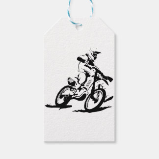 Simple Motorcross Bike and Rider Pack Of Gift Tags