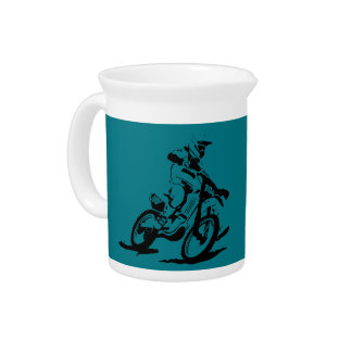Simple Motorcross Bike and Rider Pitcher