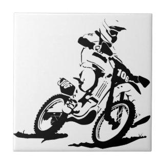 Simple Motorcross Bike and Rider Tile