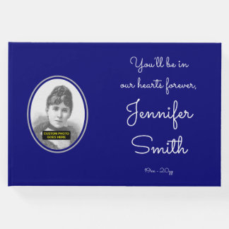 Simple & Mournful Memorial Guest Book