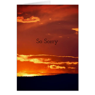 Simple Nature Sunset Sympathy Card