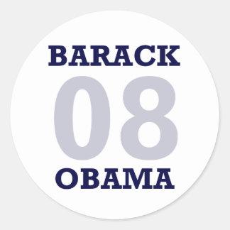 Simple Navy ObamaSticker Sticker