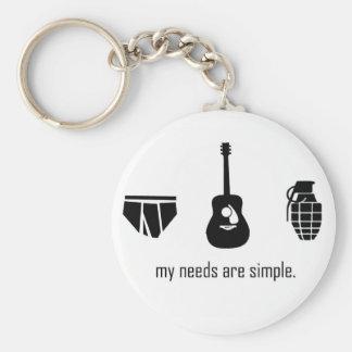 Simple Needs Basic Round Button Keychain