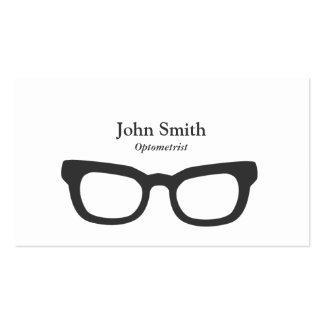 Simple Nerdy Glasses Optometrist Business Card