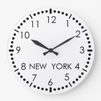 Simple New York Newsroom Large Clock