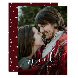 Simple Noel Christmas Photo Cards