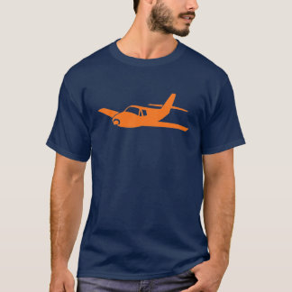 Simple orange navy airplane guys tee