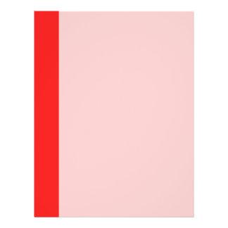 simple orange red border full color flyer