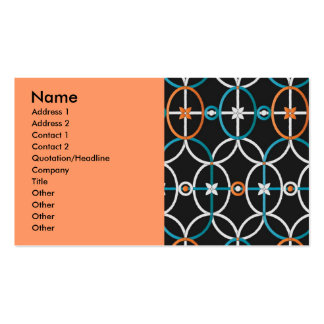 simple_orn_pat1, Name, Address 1, Address 2, Co... Business Card Templates