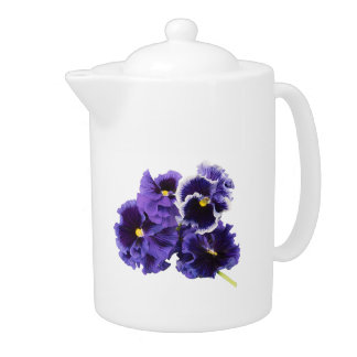 Simple Pansy Teapot - No Text