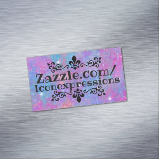 Simple Pastel Galaxy Magnetic Business Cards