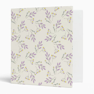 Simple pastel purple vintage botanical floral binder