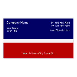 Simple Patriotic Business Cards