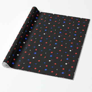 Simple Patriotic Stars Wrapping Paper