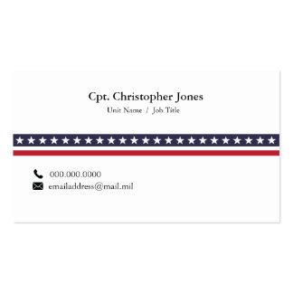 Simple Patriotic Stripe Business Card