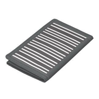 simple pattern tri-fold wallet