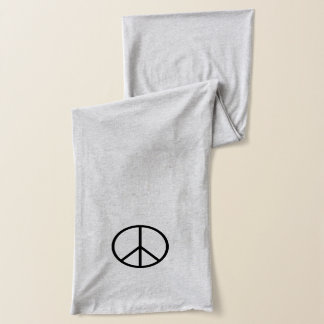 Simple Peace Sign Symbol Scarf