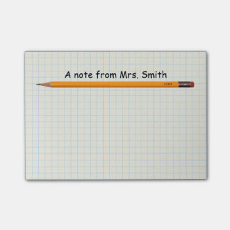 Simple Pencil & Grid Note Paper School Teacher