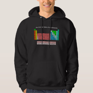 Simple Periodic Table (Handwritten Style) Hoodie