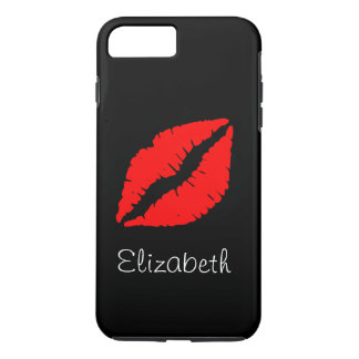 Simple Personalized Black Red Lips iPhone 8 Plus/7 Plus Case