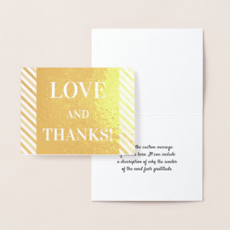 """Simple & Personalized """"LOVE AND THANKS!"""" Card"""