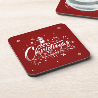 Simple Personalized Snowman Christmas | Coaster