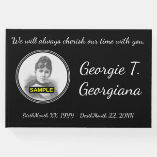 Simple & Personalized Sympathy Guestbook