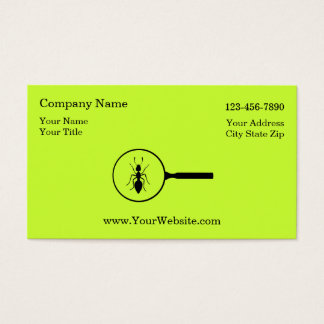 Simple Pest Control Business Cards
