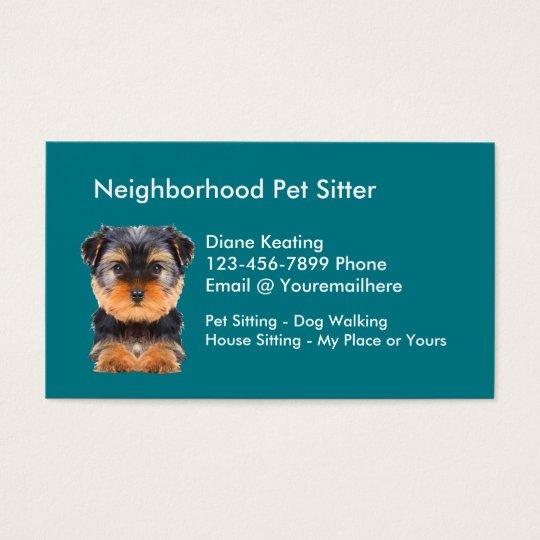 Pet Sitting Business Card - theminecraftserver.com - Best Resume ...