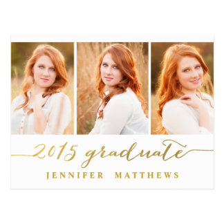 Simple Photo Collage | Graduation Party Invitation Postcard