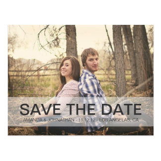 Simple Photo Design Save The Date Post Cards